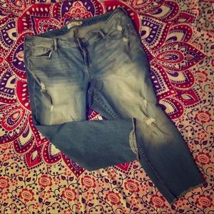 🌈 Torrid distressed faded stretch jeans size 22